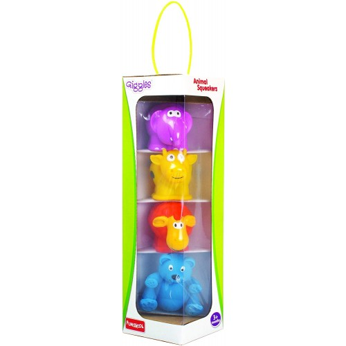 Giggles Animal Squeakers, Assorted