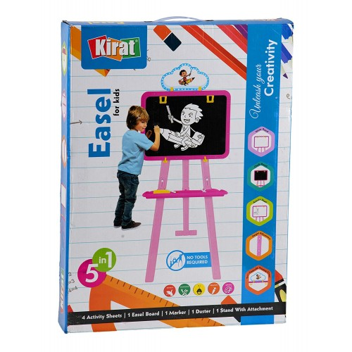 Kirat 5 in 1 Easel for Kids