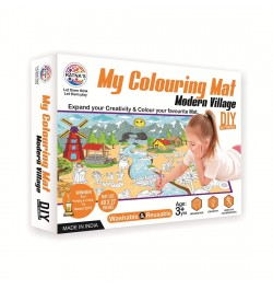 Ratna's My Colouring Mat for Kids - Modern Village Theme