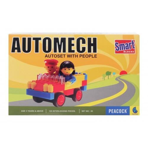 Peacock Smart Blocks Automech - 124 Pieces