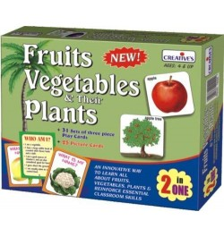 Buy Creative's Fruits, Vegetables Their Plants 2 in 1 Online in India