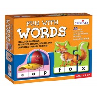 Creative's Fun With Words Puzzle (Multi-Color, 90 Pieces)