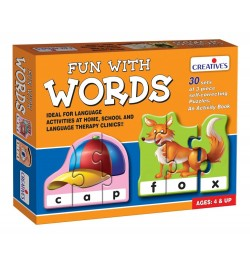 Creative's Fun With Words Puzzle (Multi-Color, 90 Pieces)