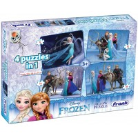 Frank Disney's Frozen Jigsaw Puzzle - 4 in 1