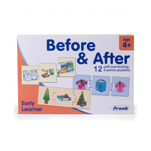 Frank Early Learner Before & After Self Correcting Puzzle Multicolour - 12 Puzzles