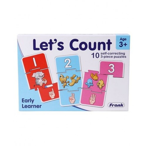 Frank Early Learner Let's Count Self Correcting Puzzle - 10 Puzzles