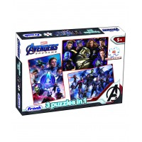 Frank Marvel Avengers Endgame 3 in 1 Jigsaw Puzzle - 48 Pieces