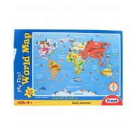 Frank My First World Map Puzzle - 24 Pieces