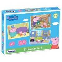 Frank Peppa Pig 3 in 1 Puzzle