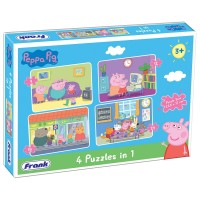 Frank Peppa Pig 4 in 1 Puzzle