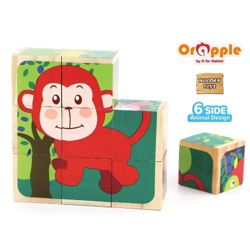 Orapple by R For Rabbit - Safari Cube Puzzle