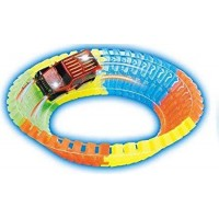Twister Track – Bend Flex Glow in Dark Magic high Speed Race Track 128pc 162 cm – Multi Colour