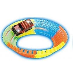 Twister Track – Bend Flex Glow in Dark Magic high Speed Race Track 128pc 162 cm – Multi Colour