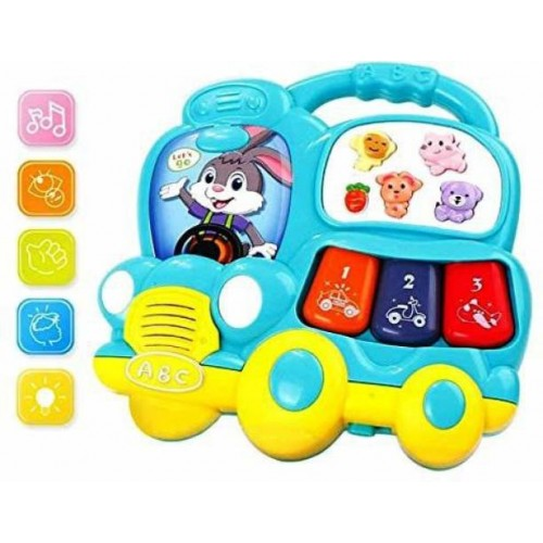Bus Shaped Musical Pianos - Colors May Vary