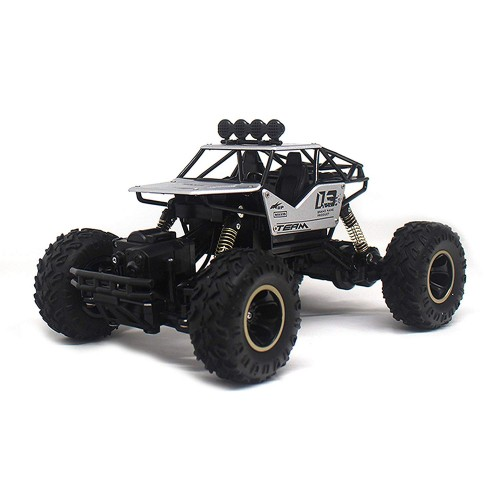 RC Rock Crawler Vehicle 2.4Ghz 1/18 Buggy Car 4 WD Shaft Drive High Speed Remote Control Monster Off Road Truck (Color May Vary)