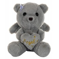 Dhoom Soft Toys Angel Bear 22 CM-Grey