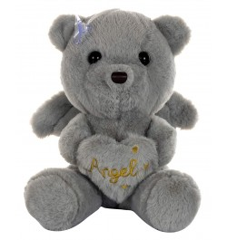 Buy Dhoom Soft Toys Angel Bear 22 CM-Grey Online in India