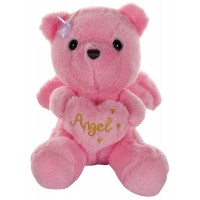 Dhoom Soft Toys Angel Bear 22 CM-Pink