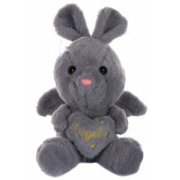 Dhoom Soft Toys Angel Rabbit 22 CM-Grey