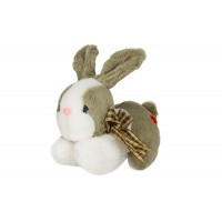 Dhoom Soft Toys Bunny Lying 20 CM-Green-White