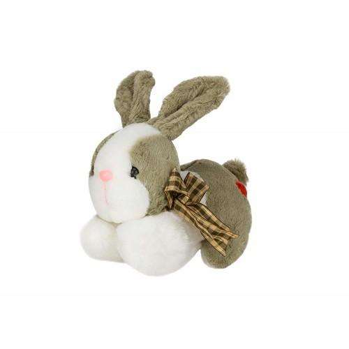 Dhoom Soft Toys Bunny Lying 20 CM-Green-White