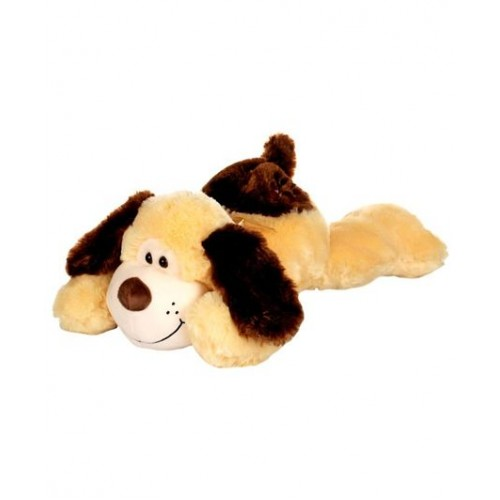 Dhoom Soft Toys Dog Lying 50 CM-Yellow and Brown