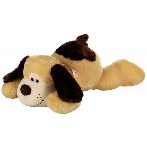 Dhoom Soft Toys Dog Lying 75 CM-Yellow and Brown