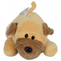 Dhoom Soft Toys Dog Sharpie Hangings 20 CM-Beige