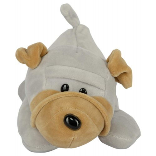 Dhoom Soft Toys Dog Sharpie Hangings 20 CM-Grey