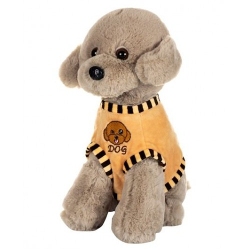 Dhoom Soft Toys Dog Standing with Dress 32 CM-Dress Grey