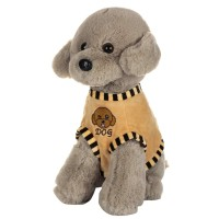 Dhoom Soft Toys Dog Standing with Dress 40 CM-Dress Grey