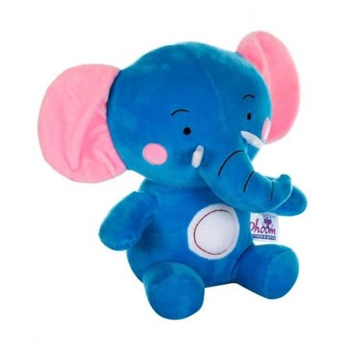 Dhoom Soft Toys Elephant 30 CM-Blue Pink