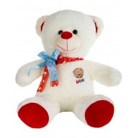 Dhoom Soft Toys Teddy Bear 45 CM-Cream & Red