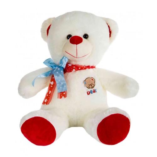 Dhoom Soft Toys Teddy Bear 45 CM-Cream & Red