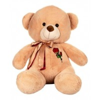 Dhoom Soft Toys Teddy Bear 60 CM-Rose Patch Beige