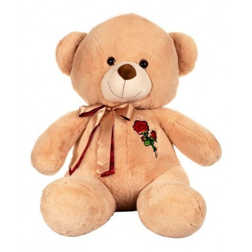 Dhoom Soft Toys Teddy Bear 60 CM-Rose Patch Beige