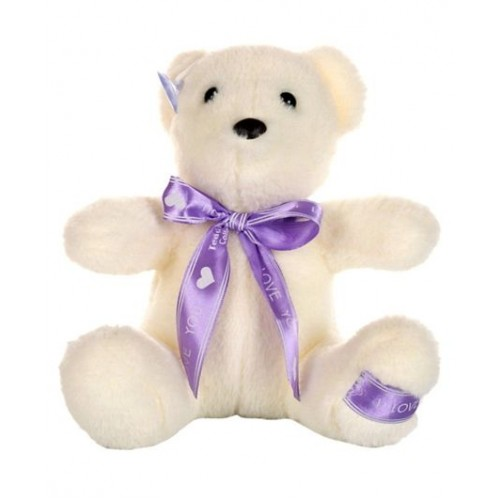 Dhoom Soft Toys Teddy Bear Hangings 22 CM-Bow White