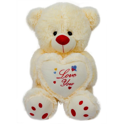 Dhoom Soft Toys Teddy Bear Love You 35 CM-Cream