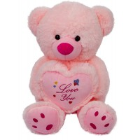 Dhoom Soft Toys Teddy Bear Love You 35 CM-Pink