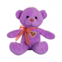 Dhoom Soft Toys Teddy Bear Multicolor 24 CM-Purple
