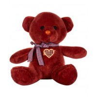 Dhoom Soft Toys Teddy Bear Multicolor 24 CM-Red