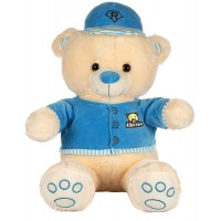 Dhoom Soft Toys Teddy Bear with Cap & Jacket 55 CM-Blue