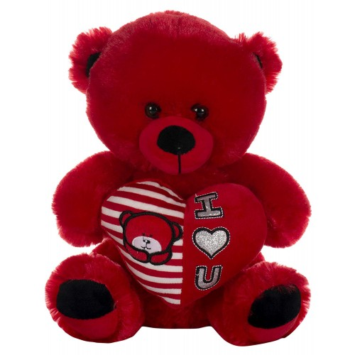Dhoom Soft Toys Teddy Bear with Heart 30 CM-Red