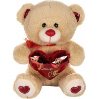Dhoom Soft Toys Teddy Bear with Heart 32 CM-Beige