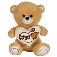 Dhoom Soft Toys Teddy Bear with Heart 40 CM-Camel