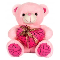 Dhoom Soft Toys Teddy Bear with Heart 40 CM-Pink