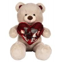 Dhoom Soft Toys Teddy Bear with Heart 60 CM-Camel