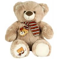 Dhoom Soft Toys Teddy Bear with Muffler 40 CM-Light Brown