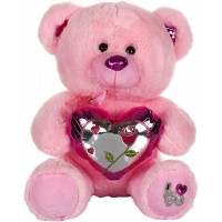 Dhoom Soft Toys Teddy Bear with Shine Heart 40 CM-Pink