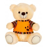 Dhoom Soft Toys Teddy Bear with TShirt 40 CM-Dress Cream